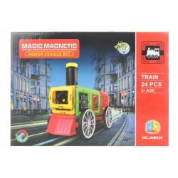 Obrázek Magnetická stavebnice 24 ks vlak