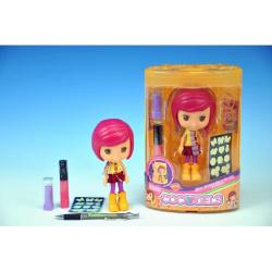 Obrázek Bábika Cocodels Sephia plast 16cm s izbičkou + make-up doplnky