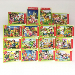 Obrázek Minipuzzle 54 dílků Pohádky - různé druhy 1ks