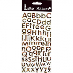 Obrázek Samolepicí písmenka - tygrovaná