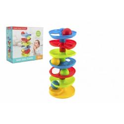 Obrázek Kuličková dráha - věž plast s kuličkami v krabici 27x26x11cm 12m+