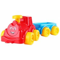 Obrázek Lokomotiva/Vlak s vagonem plast v síťce 21x13x22cm 12m+