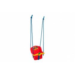 Obrázek Houpačka Baby s pískátkem plast červená nosnost 20kg 35x34x35cm
