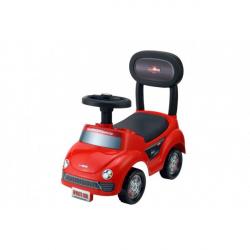 Obrázek Odrážedlo auto plast červené výška sedadla 20cm v krabici 48x23,5x22,5cm 12-35m