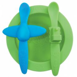 Obrázek Sada nádobí Oogaa zelená s modrou