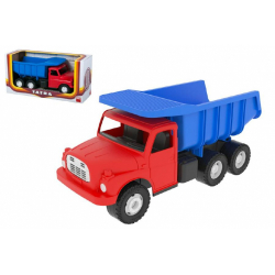 Obrázek Auto Tatra 148 plast 30cm červenomodrá sklápěč - malá