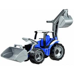 Obrázek Traktor s lyžicou a bagrom - modro-biela