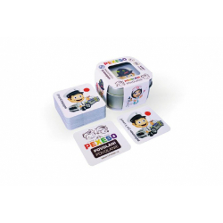 Obrázek Pexeso povolania vodeodolné 64 kariet v plechovej krabičke 6x6x4cm Hmaťák