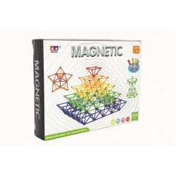 Obrázek Magnetická stavebnice 250 ks plast/kov v krabici 31x23x5cm