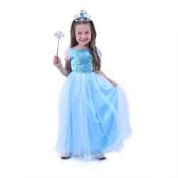 Obrázek Dětský kostým modrá Princezna (M)
