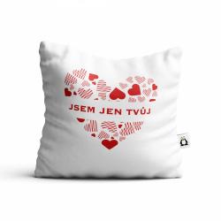 Obrázek Polštář Valentýn - Jsem jen tvůj