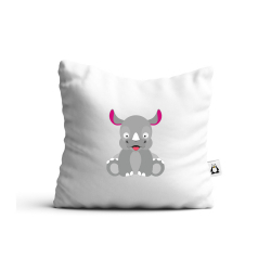 Obrázek Vankúš Veselá zvieratká - Nosorožec