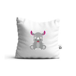 Obrázek Polštář Veselá zvířátka - Nosorožec