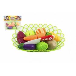 Obrázek Zelenina krájecí v košíku plast s doplňky v sáčku 29x22x6cm