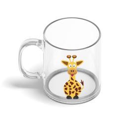 Obrázek Skleněný hrnek Veselá zvířátka - Žirafa
