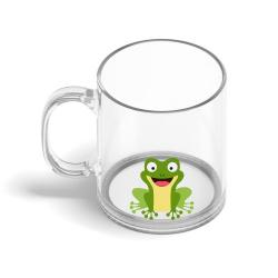 Obrázek Skleněný hrnek Veselá zvířátka - Žabička