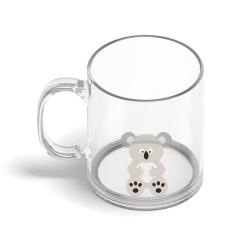 Obrázek Skleněný hrnek Veselá zvířátka - Koala