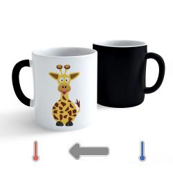 Obrázek Měnící hrnek Veselá zvířátka - Žirafa