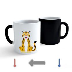Obrázek Měnící hrnek Veselá zvířátka - Tygřík