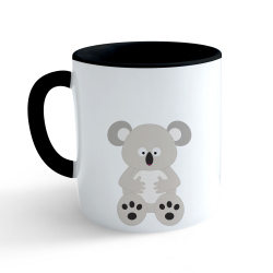 Obrázek Hrnček Veselá zvieratká - Koala - čierny 330ml