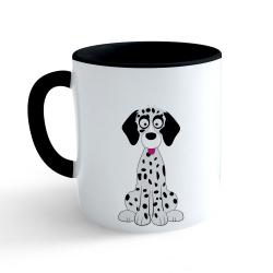 Obrázek Hrnček Veselá zvieratká - Dalmatin - čierny 330ml