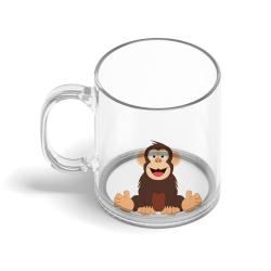 Obrázek Sklenený hrnček Veselá zvieratká - Šimpanz