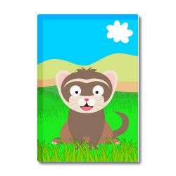 Obrázek Magnetka Veselá zvířátka - Fretka