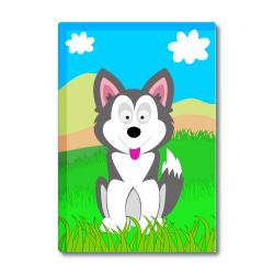 Obrázek Magnetka Veselá zvieratká - Husky