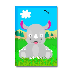 Obrázek Magnetka Veselá zvířátka - Nosorožec