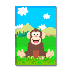Obrázek Magnetka Veselá zvieratká - Šimpanz