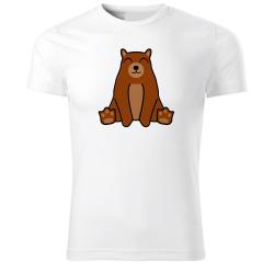 Obrázek Tričko Tučniak a jeho kamaráti - # 9 medveď hnedý, veľ. S