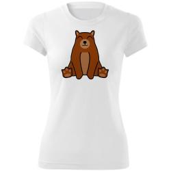 Obrázek Dámské Tričko Tučňák a jeho kamarádi - #9 medvěd hnědý, vel. S