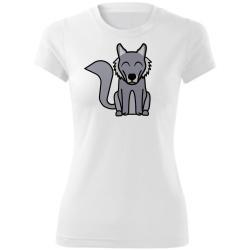 Obrázek Dámské Tričko Tučňák a jeho kamarádi - #8 vlk obecný, vel. S