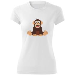 Obrázek Dámske Tričko Veselá zvieratká - Šimpanz, veľ. S