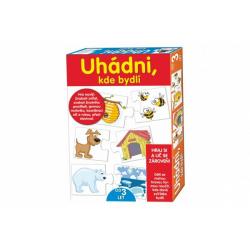 Obrázek Puzzle deskové Uhádni, kde bydlí v krabici 20x28x4cm