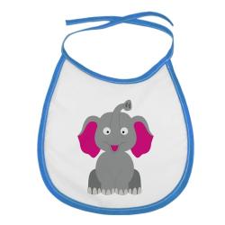 Obrázek Detský podbradník Veselá zvieratká - Sloník - modrý