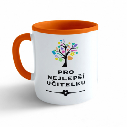 Obrázek Hrnek Nejlepší učitelka - oranžový 330ml