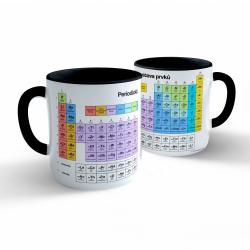 Obrázek Hrnek Chemie - Periodická soustava prvků - černý 330ml