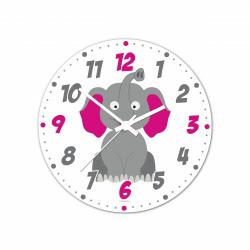 Obrázek Nástěnné hodiny Veselá zvířátka - Sloník 20cm