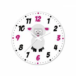 Obrázek Nástenné hodiny Veselá zvieratká - Ovečka - 30 cm