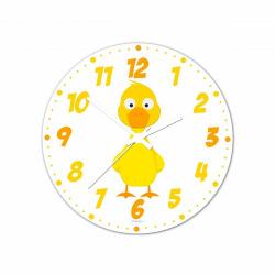 Obrázek Nástenné hodiny Veselá zvieratká - Kačenka - 30 cm
