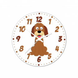 Obrázek Nástěnné hodiny Veselá zvířátka - Pejsek 30cm