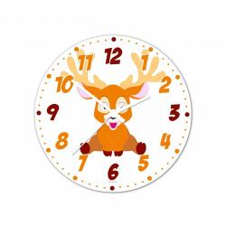 Obrázek Nástenné hodiny Veselá zvieratká - Sobík - 30 cm