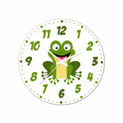 Obrázek Nástenné hodiny Veselá zvieratká - Žabička - 30 cm