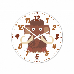 Obrázek Nástěnné hodiny Veselá zvířátka - Mamut 20cm