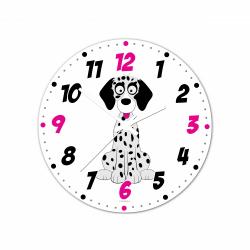 Obrázek Nástěnné hodiny Veselá zvířátka - Dalmatin 30cm