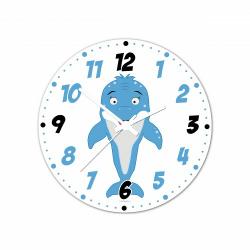 Obrázek Nástenné hodiny Veselá zvieratká - Delfínek - 30 cm