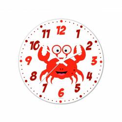 Obrázek Nástěnné hodiny Veselá zvířátka - Krabík 30cm