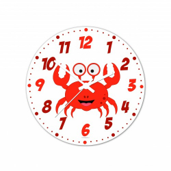 Obrázek Nástenné hodiny Veselá zvieratká - krabík - 20 cm