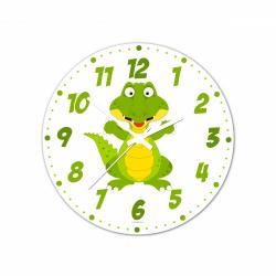 Obrázek Nástenné hodiny Veselá zvieratká - Krokodíl - 30 cm